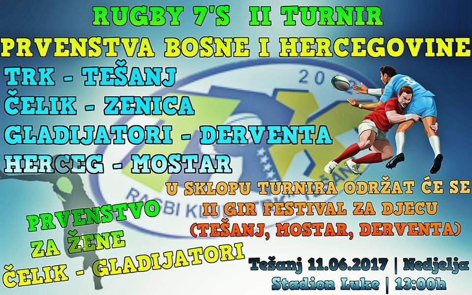 """Prvenstvo BiH u """"ragbiju 7"""" – Tešanj i Ragbi klub """"TRK"""" domaćin drugog turnira."""