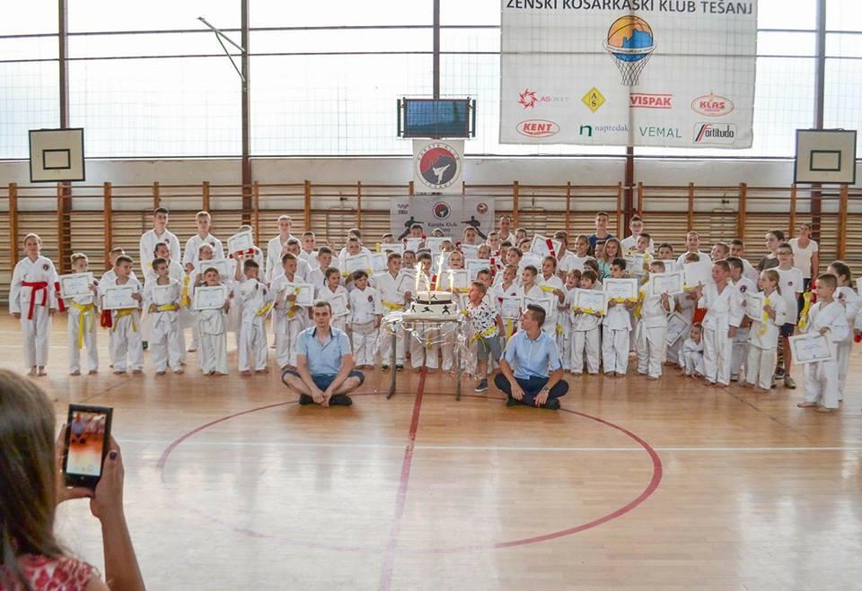 Karate klub Tešanj – Polaganje za učenička zvanja.