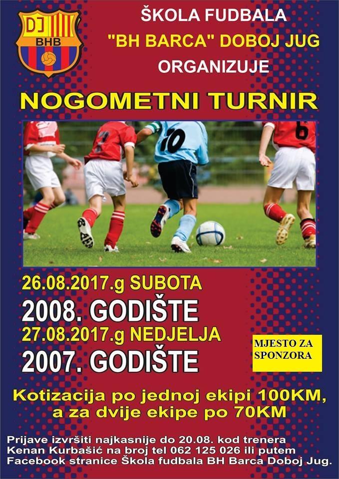"""Nogometni turnir u organizaciji Škole fudbala """"BH Barca"""" Doboj Jug."""