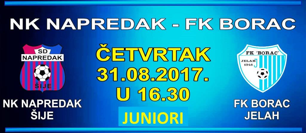 """Četvrtfinale Omladinskog KUP-a NS ZDK: NK """"Napredak"""" Šije – FK """"Borac"""" Jelah."""